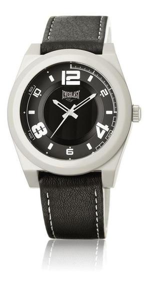Relógio Pulso Everlast Unissex Couro Mostrador Branco E371