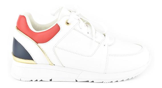 Tenis Urbanos Para Mujer Lob Footwear 811-9600 Blanco Nuevo Oi19
