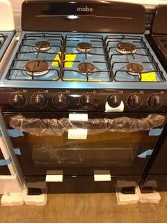 Cocina 30 Pulgadas Mabe Negra 6 Hornillas