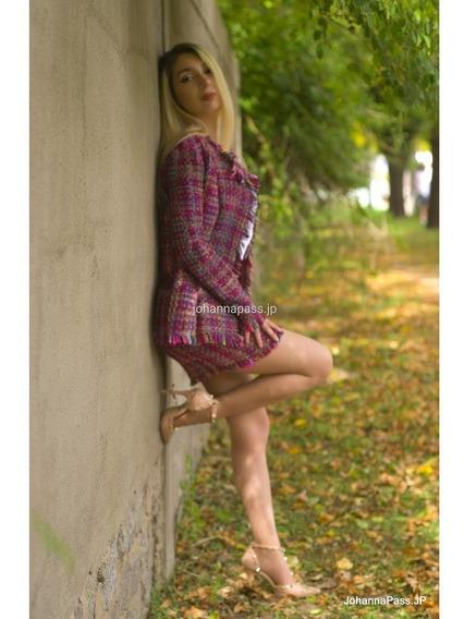 Conjunto Elegante De Blazer Y Minifalda De Tiro Alto