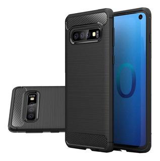 Funda Tpu Fibra Carbono Para Samsung A10 A20 A30 + Templado