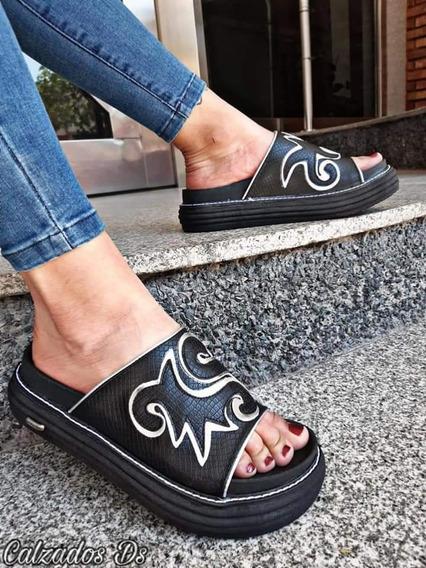 Sandalias Bordadas Mujer