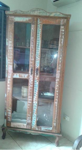 Cristaleira Rustica E Antiga