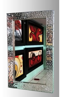 Espejo Con Marco De Vitral 50x80cm