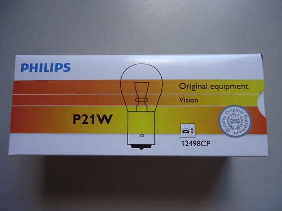 Lampada Comum 1 P. 12v P21w Philips 12498 (1141) Caixa C/ 10