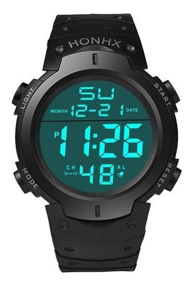 Relógio Masculino Lcd Digital Cronômetro E Data Promoção