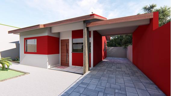 Casa Nova, Com Garagem E Suíte, Toda Murada.