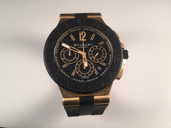 Reloj Bvlgari Diagono 42 Mm Chronograph De Oro Amarillo 18kt