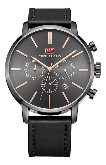 Reloj Calendario Mini Focus Mf023 Byn - Original