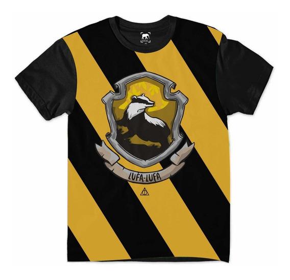 Camiseta Harry Potter Lufa-lufa Hogwarts Relíquias Morte