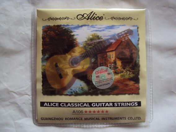 Juego De Cuerdas De Nylon Para Guitarra Clásica Marca Alice