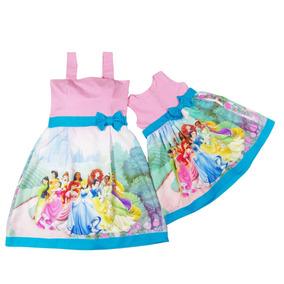 Vestido Tal Mãe Tal Filha Princesas Disney Frete Grátis