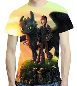 Camisa Filme Camiseta Como Treinar Seu Dragão Estampa Total