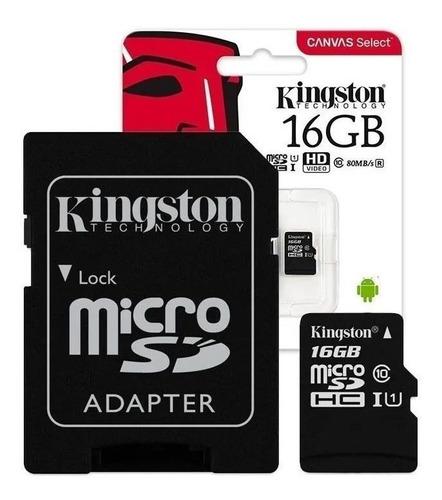 Cartão Memória 16gb Kingston Classe 10 Canvas Select