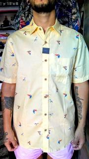 Camisa Hawaiiana Zimith Curiet Yellow