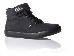 Tênis Feminino Cano Alto Cocacola Shoes Ease Preto Cc1434-23