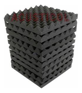 10 Piezas De Espuma Panel Acustico 30x30cm Calidad Densidad