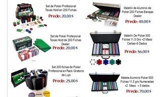 Set Juego Mesa De Poker Profesional, 200,300 Y 500 Fichas
