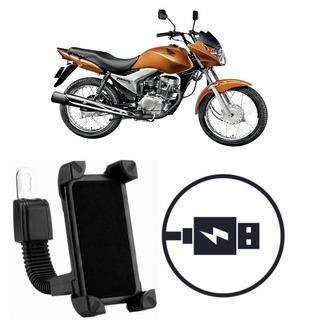 Suporte Carregador Celular Moto Honda Cg 150 Titan Es