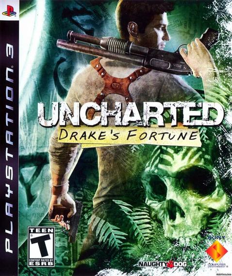 Uncharted Drakes Fortune Ps3 Original Mídia Física Português