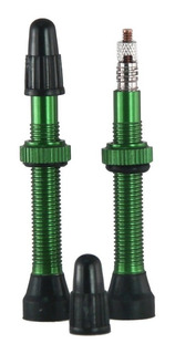Par Válvula Bico Tubeless Slime 44mm Roda Universal Verde