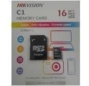 Cartão Mem Micro Sd Hikvision 16gb + 1 Adpt. Class 10