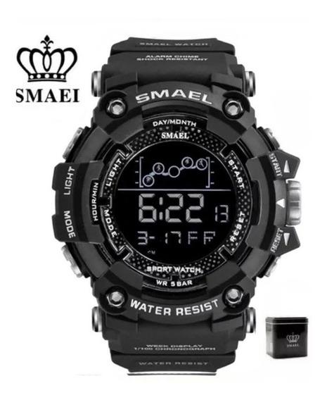 Relógio Smael 1802 Na Caixa Tático Militar Prova D