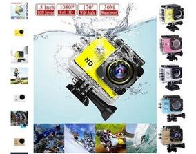 Sports Cam Full Hd 1080p Helmet Dvr Action Waterproof Preto