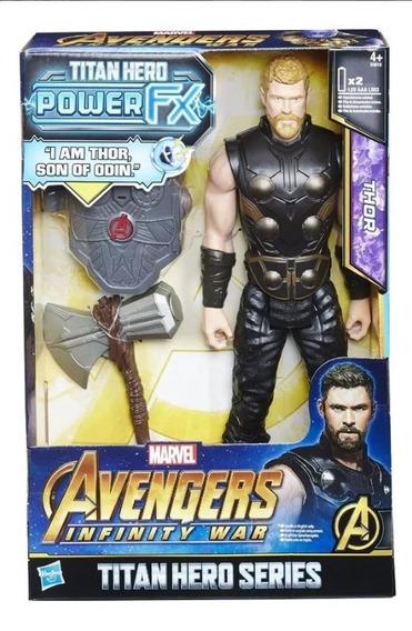 Vingadores Titan Herói Poder Fx Thor Figura De Ação