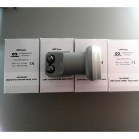 Antena Ku 60 + 2 Lnb Duplo + 20 Mts Cabo + 2 Conectores