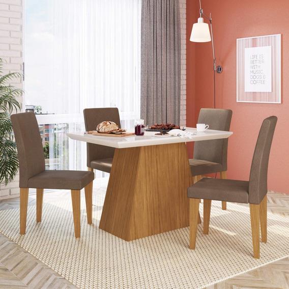Conjunto Sala Jantar Com 4 Cadeiras Julia Mocca Móveis G