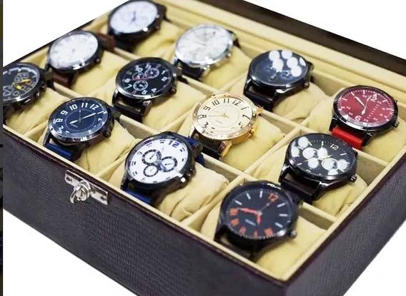 Promoção 6 Relógios Masculino Atacado Revenda Lote + Caixa