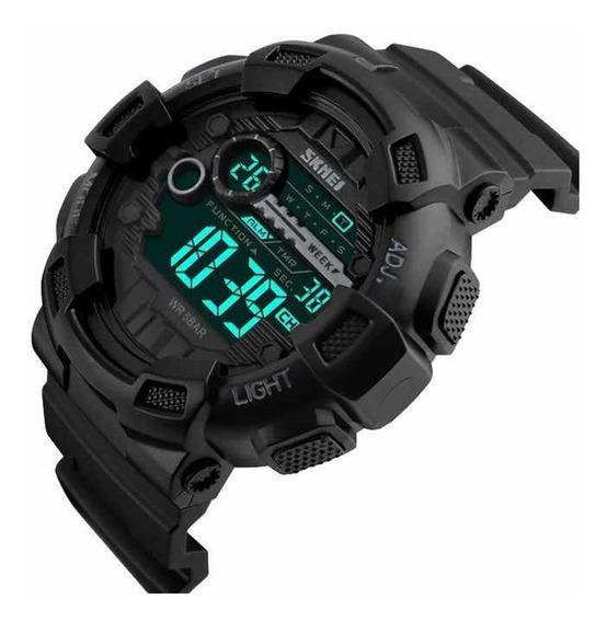 Relógio Skmei 1243 Preto Militar Esportivo Promoção Barato