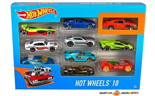 Hot Wheels Pack  X  10 Autos - Giro Didactico