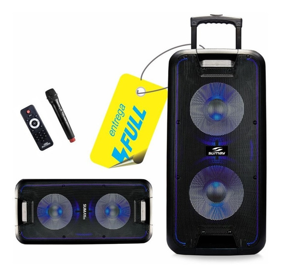 Caixa Som Portátil Bluetooth Amplificada 600w Titan Bateria