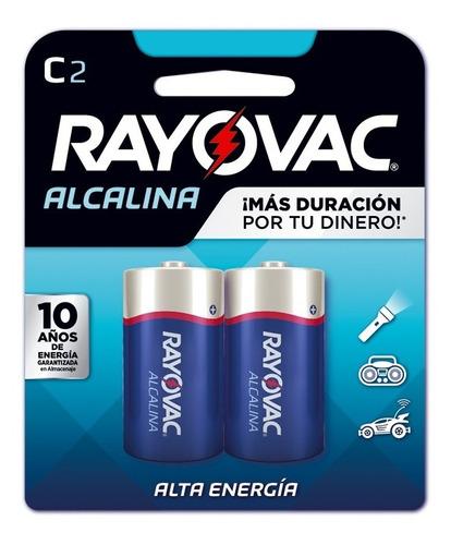 Blister 2 Pilas Medianas Alcalinas Tipo C Rayovac 814-2