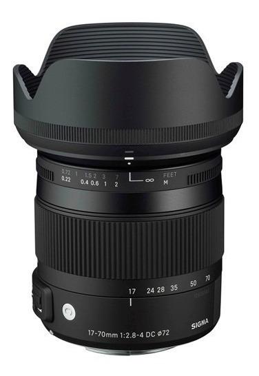 Sigma Dc 17-70mm F/2.8-4 Os Hsm P/ Canon - Loja Platinum
