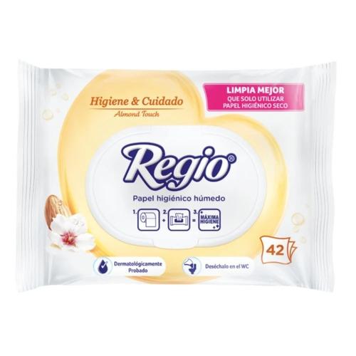 Imagen 1 de 1 de Papel higiénico Regio Húmedo Almond Touch húmeda de42u