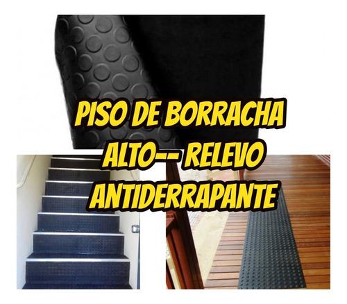 Imagem 1 de 10 de Piso Emborrachado Formato Moeda Antiderrapante 3mm 5.00x1.00