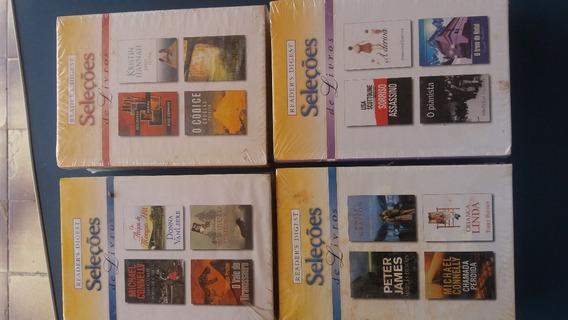 Lote 92-livro Seleções Readers Digest (4títulos Cada) Novo
