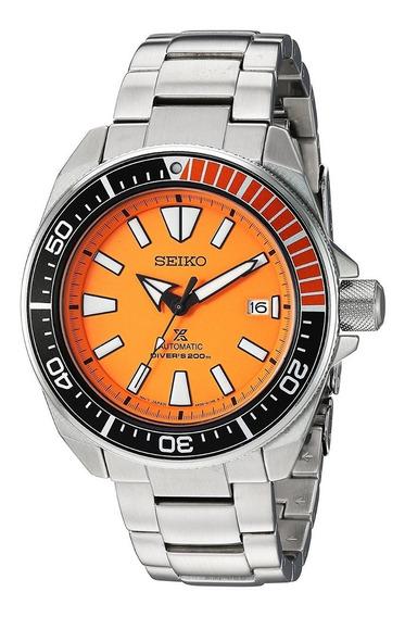 Relógio Seiko Srpc07 Samurai Automatico Laranja Dive