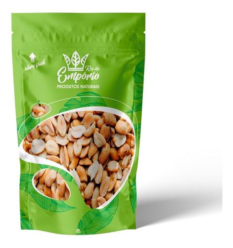 Imagem 1 de 5 de Amendoim Sem Pele Sem Sal Torrado 500g Vegano Rei Do Empório