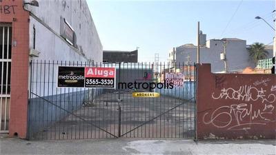 Terreno Para Alugar, 400 M² Por R$ 3.500/mês - Centro - São Caetano Do Sul/sp - Te0108