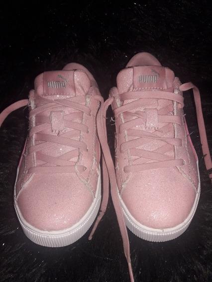 Zapatillas Nena Puma Nike adidas Rosa Glitters Plataforma
