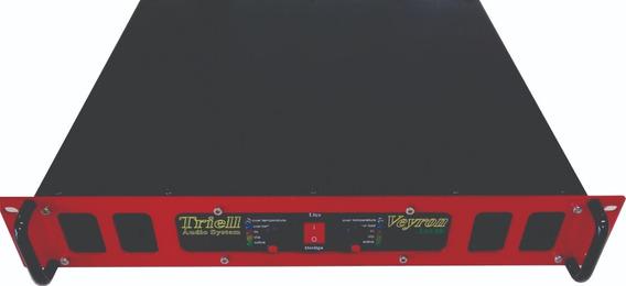 Potência Triell Amplificador De Áudio 8000 Rms Tas 8k Veyrom