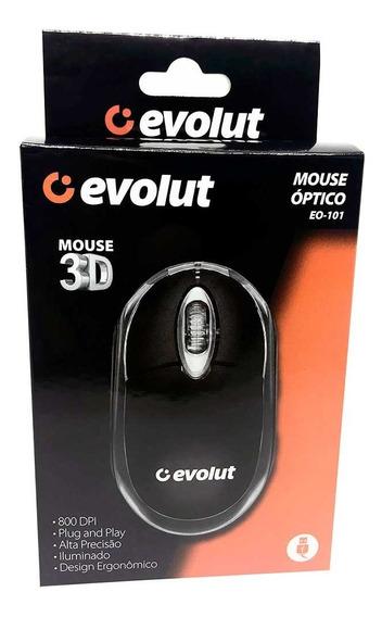 Mouse Optico Evolut Eo-101 800dpi