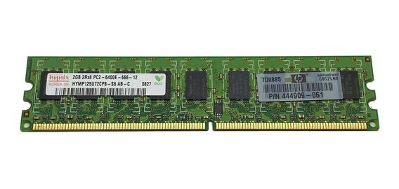 Memoria 2gb Ddr2 Ecc 800mhz Pc2-6400e Hp Pn 445167-061 Ml110
