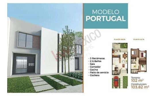 Casa En Venta Fraccionamiento Arcano Residencial, Modelo Portugal. En Soledad De Graciano Sanchez.