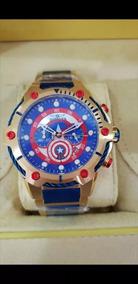 Relógio Invicta Marvel Capitão América Dourado Completo