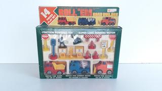 Play Set 14 Piecs Road Builder 1977 Top Toys